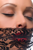 Woman with a veil Royalty Free Stock Image