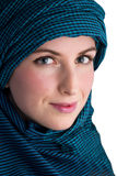 Woman with veil Royalty Free Stock Images