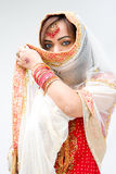 Woman with veil Stock Images