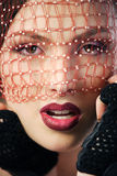 Woman with veil Stock Photography
