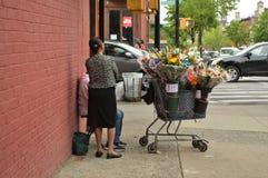 Flower Street Vendor royalty free stock photo