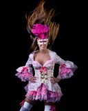 Woman in venetian dressed ball costume Royalty Free Stock Image