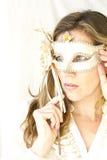 Woman with Venetian mask Stock Image
