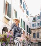 Woman in Venice Royalty Free Stock Image