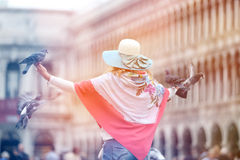 Woman in Venice Royalty Free Stock Photo