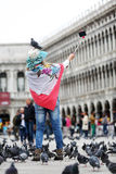 Woman in Venice Royalty Free Stock Images