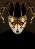 Woman with Venice mask Stock Photo