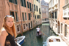 Woman  in Venice Stock Images