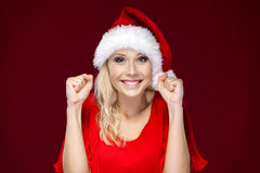 Woman is very happy Royalty Free Stock Photo
