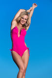 Happy woman in swimsuit Royalty Free Stock Image