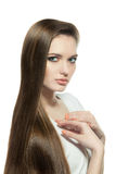 Woman with Very Long and Smooth Hair Royalty Free Stock Photo