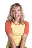 Woman very surprised Stock Photo