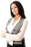 Woman in vest Royalty Free Stock Photos