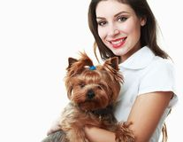 Woman veterinarian Royalty Free Stock Images