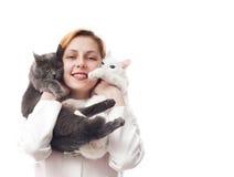Woman veterinarian Royalty Free Stock Photo