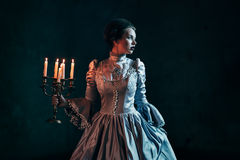 Woman in victorian dress Royalty Free Stock Photography