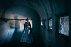 Woman in victorian dress royalty free stock image