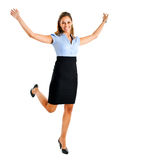 Woman victory Royalty Free Stock Photos