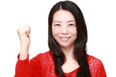 Woman in a victory pose Stock Photography