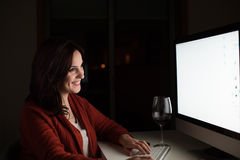 Woman in video call Stock Images