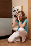 Woman videoing Stock Photography