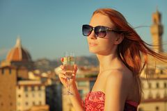 Woman and view Royalty Free Stock Images