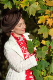 Woman in vintage clothes Royalty Free Stock Photos