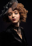 Woman in vintage costume Royalty Free Stock Images