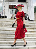 Woman Vintage Dress, Fashion Show Stock Photos