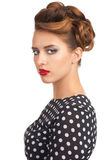 Woman with vintage make-up and hairstyle Stock Photo