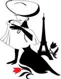 Woman vintage silhouette Royalty Free Stock Photos