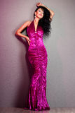 Woman in violet dress Royalty Free Stock Photo