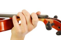 Woman with violin Stock Photography