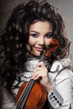Woman with a violin Royalty Free Stock Photography