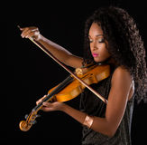 Woman with violin Royalty Free Stock Images