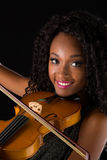 Woman with violin Royalty Free Stock Image