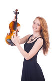Woman with violin Stock Photo