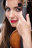 Woman violin play Stock Photo