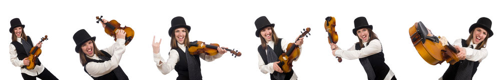 The woman violin player Royalty Free Stock Image