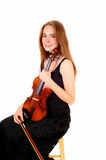 Woman violin player. Stock Images