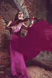 Woman with a violin Stock Images