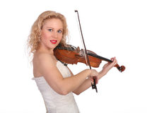 Woman the violinist Royalty Free Stock Photo