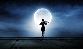 Woman violinist Stock Photos