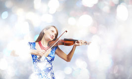 Woman violinist Stock Photo