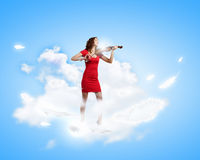 Woman violinist Royalty Free Stock Photography