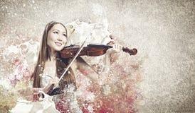 Woman violinist Stock Photo