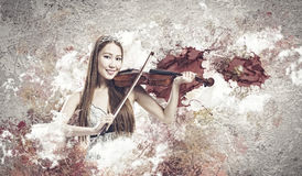 Woman violinist Stock Photos