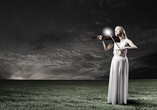 Woman violinist Royalty Free Stock Photos