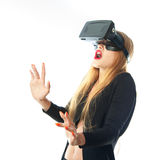 Woman in virtual reality glasses Royalty Free Stock Photo