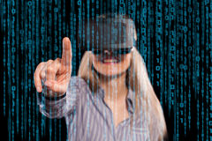 Woman in virtual reality headset Stock Photos